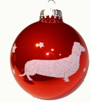 Dackelparadies Exclusive Weihnachtskugel Mit Dackel