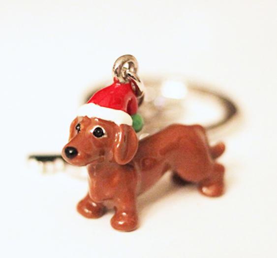d4071f2c5bb83 Dackelparadies - Schlüsselanhänger Weihnachtsdackel