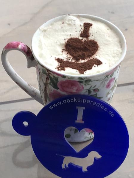 Dackelparadies cappuccino schablone f r dackelfans - Weihnachtskugeln cappuccino ...