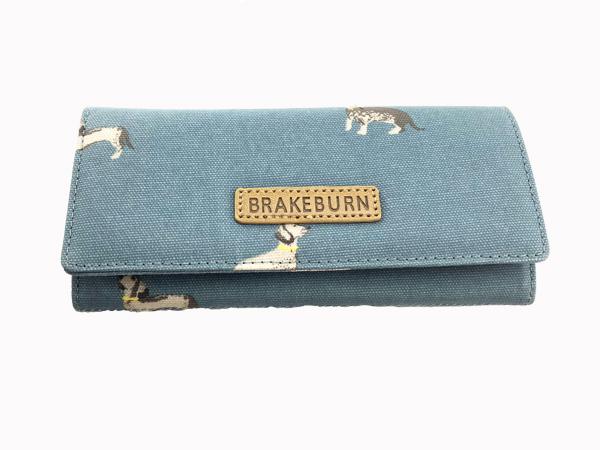 d71bd602ef95b Dackelparadies - Portemonnaie mit Dackelmotiven blau