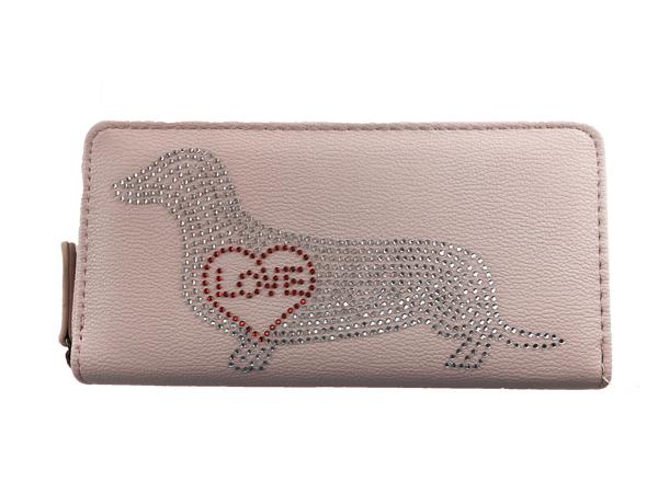 aae59fb7f0147 Dackelparadies - Portemonnaie rosa mit Strassmotiv