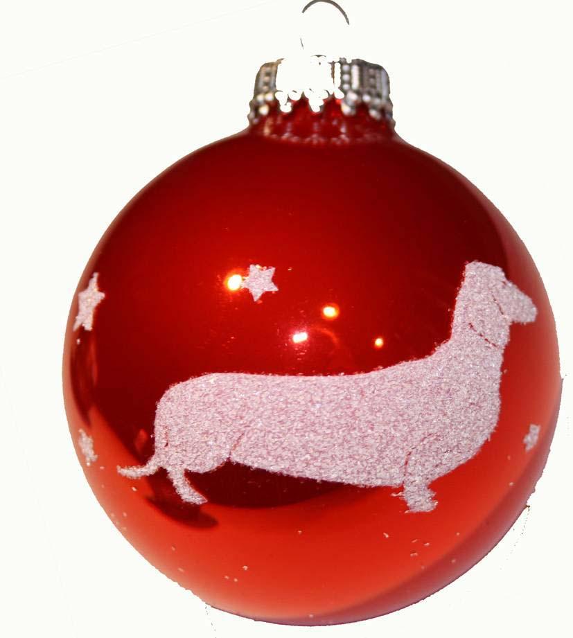 Dackelparadies - Exclusive Weihnachtskugel mit Dackel